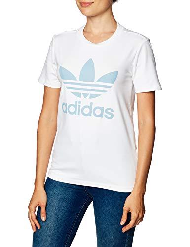 adidas Trefoil Tee, Maglietta Donna, Bianco (Bianco/Clesky), 42 IT