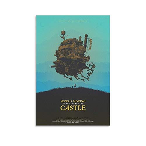 Anime Howls Moving Castle Poster, Vintage, Filmposter, dekoratives Gemälde, Leinwand, modernes Familienschlafzimmer, 30 x 45 cm