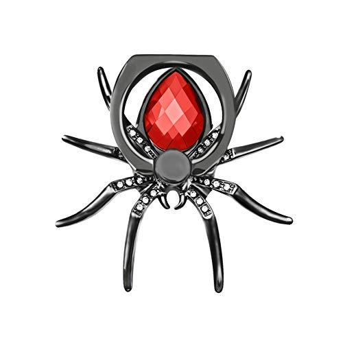 IYOYI Frio Araña Anillo Soporte Movil Rotación 360 Grados Diamantes Sujeta Movil Mano per Todos los teléfonos celulares (Rojo)