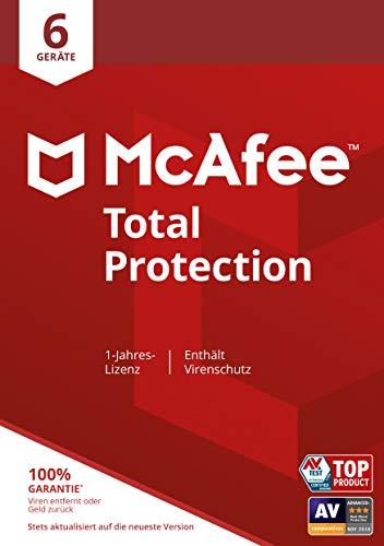 McAfee Total Protection 2020 | 6 Geräte | 1 Jahr | Antivirus Software, Virenschutz-Programm, Passwort Manager, Mobile Security, Multi Geräte | PC/Mac/Android/iOS |Europäische Ausgabe| Download Code