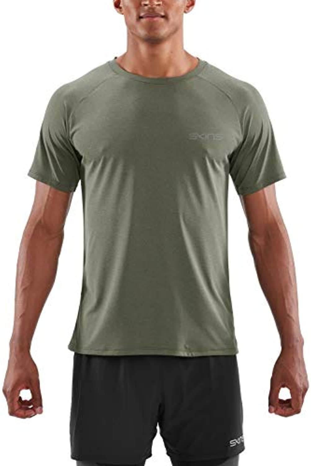 Skins Mens Short Sleeve SP00791213009XL, Utility Marle, X-Large