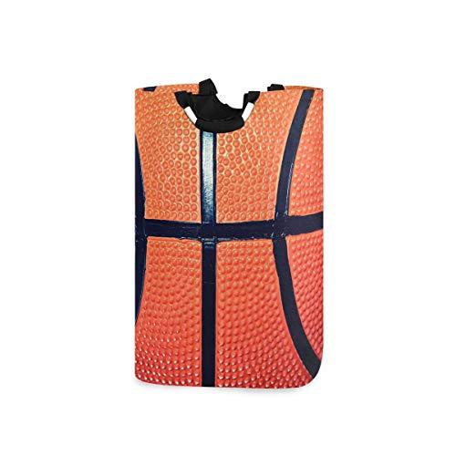 CPYang Wäschesammler, Sportball, Basketball-Druck, Wäschekörbe, faltbar, Kleidung, Spielzeug, Organizer, Tasche für Schlafzimmer, Waschraum, Badezimmer