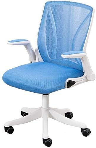 Silla de oficina, ordenador silla del personal silla del asiento ajustable ergonómico giratorio silla del acoplamiento del Ministerio del Interior acolchado Silla de oficina (Color: azul, tamaño: Marc