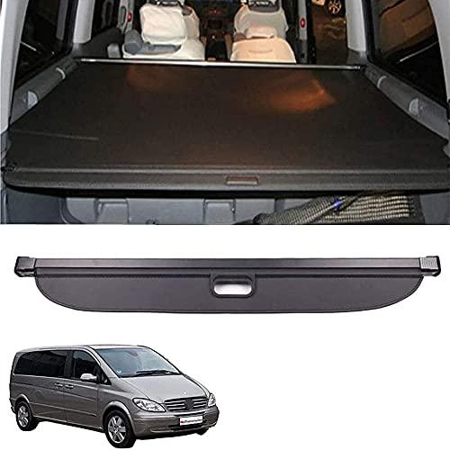 Estante trasero retractable del paquete del maletero del coche, accesorios autos de los estantes de la decoración, para Mercedes Benz V Class Viano Vito 2010-2020