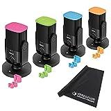 Rode NT-USB - Juego de micrófonos (4 unidades, etiquetas de identificación de colores y paño de microfibra)