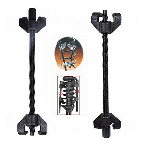 MCTECH Set di 2tenditori a molla professionali, tendimolle per tuning, set di montaggio per sospensioni inferiori, con 4artigli e apertura fino a 370mm