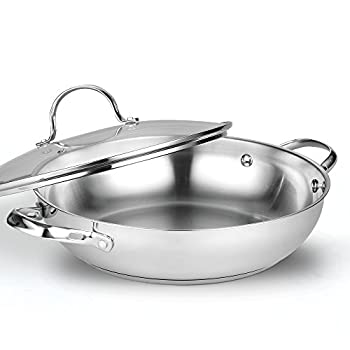 Cooks Standard 12-Inch/30cm Classic Stainless Steel Everyday Chef s Stir Fry Pan