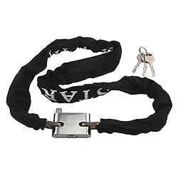 Century 100 cm chain lock solid with black tearproof nylon coating