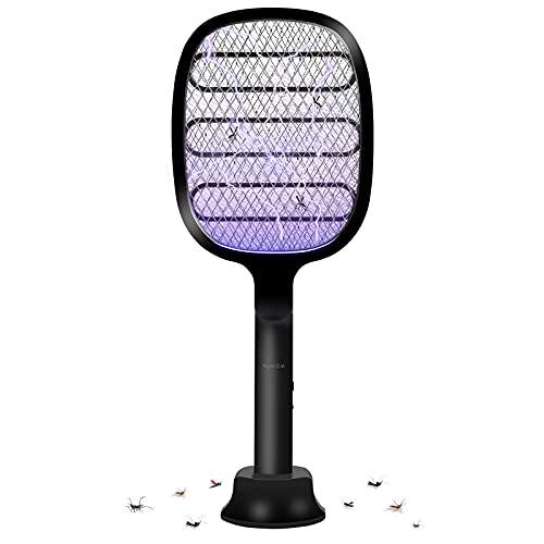Night Cat Elettrico Zanzara Volare Swatter 3000V Zapper Racchetta Insetti Killer Repellente Lamp Bat USB C Ricaricabile UV Luce