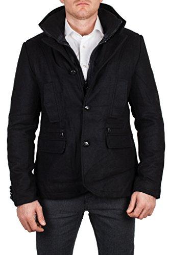 Black Number - Manteau - Vintage - Homme - Noir - Large