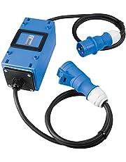 as - Schwabe MIXO 61748 Tussenteller – MID gekalibreerde stroommeter met terugloopblokkering, verzegeld – tussenstekker box met 3-polige CEE-stekker & CEE-koppeling – IP44 – Made in Germany