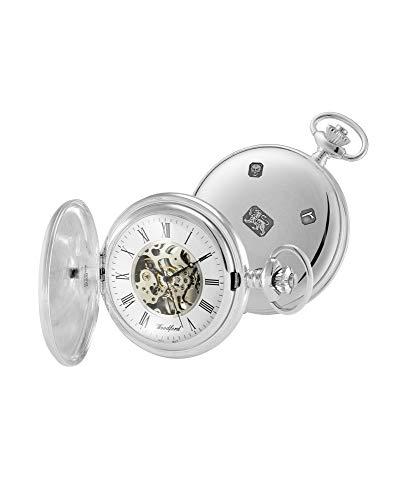 Woodford Reloj de bolsillo suizo de plata de ley 1103