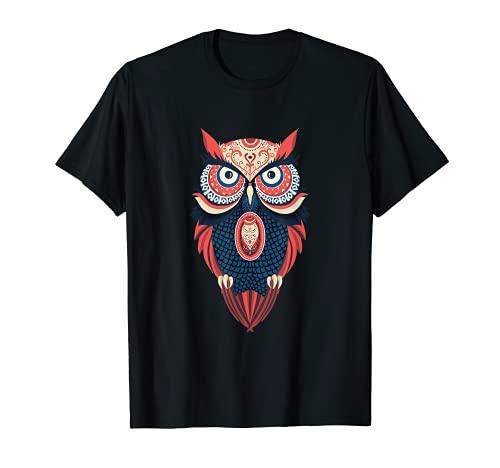 Diseño nativo americano del búho de mandala Camiseta