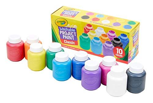 Crayola - 10 botes de pintura lavable (54-1205) , color/modelo surtido