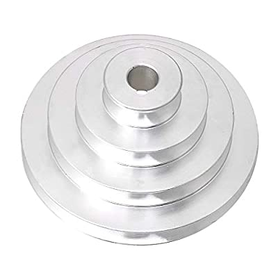 BQLZR 41mm to 130mm Outer Dia 16mm Bore Aluminum 4 Step Pagoda Pulley Belt for A Type V-Belt Timing Belt