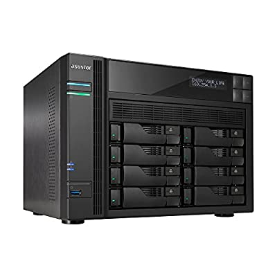 Asustor AS6202T + Free exFAT License | 1.6GHz Quad-Core, 4GB RAM | Personal Private Cloud | Home or Business Data Media Server | Network Attached Storage (2 Bay Diskless NAS)