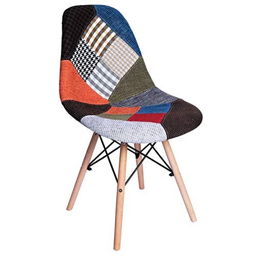 Regalos Miguel - Sillas Comedor - Silla Tower Patchwork - Patchwork Colores - Envío Desde España
