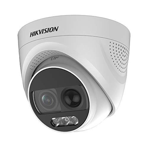 5 MP Hdtvi CCTV Kit Hikvision 8 CH Ds-7208huhi-k1 & 8 x Ds-2ce76hot-itmfs Cámaras domo 2.8 mm Objetivo 20 m IR (cables de 20 m) HDD 4TB