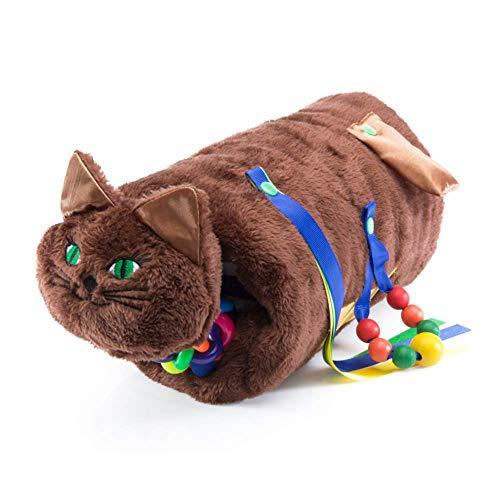 TwiddleCat-Therapiehilfe, sensorische Therapie - Alzheimer, Demenz, Autismus-Therapieprodukt - Spielzeug zur Linderung von Stress und Angstzuständen - Plüschkatze