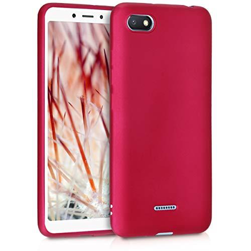 kwmobile Xiaomi Redmi 6A Hülle - Handyhülle für Xiaomi Redmi 6A - Handy Case in Metallic Pink