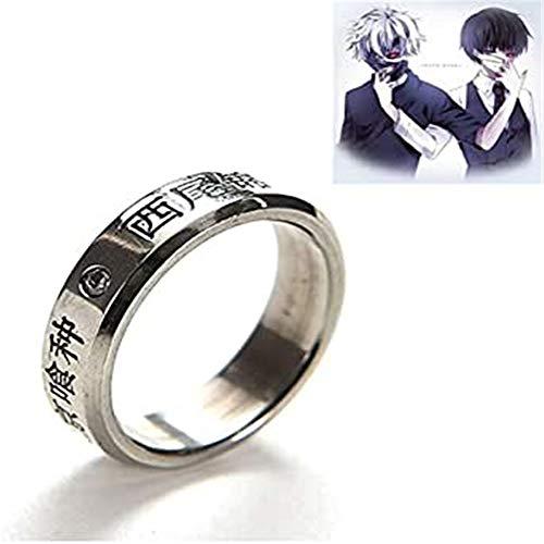 NA Tokyo Ghoul Ring Halskette, Cosplay Anime Tokyo Ghoul Ken Kaneki Titanring Oomori Yakumo Fingerringe -1St