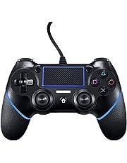 Wired Controller per PS4, Wired Game Controller per PlayStation4/Pro/Slim/PC, Gamepad con doppia vibrazione, impugnatura antiscivolo e cavo USB da 2,1 m