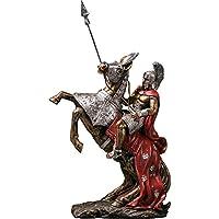 騎士の彫刻の像、質素な戦士の騎士モデル樹脂塗装の家のレトロな装飾品は贈り物を集める、家の装飾
