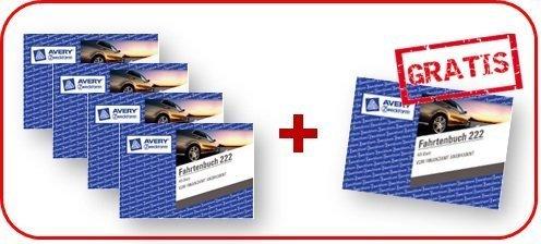 Avery Zweckform Nr. 222 Fahrtenbuch 4 St. + 1 St. gratis Aktion