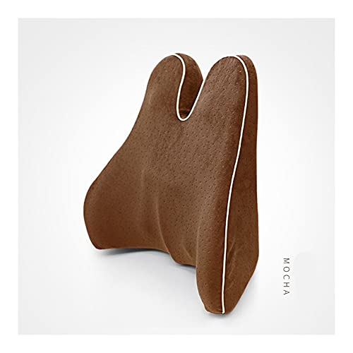 LINMAN Memory Foam Taille Lendenseite Support Kissen Spine Coccyx Schutzortthopädische Autositz Büro Sofa Stuhl Rückenkissen (Color : Mocha)