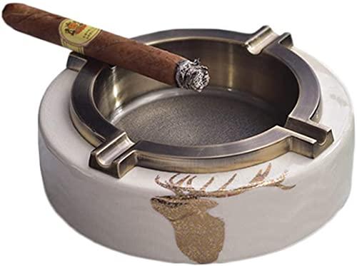 Cenicero cenicero redondo / cuadrado forma vintage europea bandeja de cenizas con 4 cigarros para la oficina de hoteles caseros