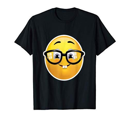 Emoji Geek Nerd Goofy Gesicht Smiley Dorky mit Brille T-Shirt