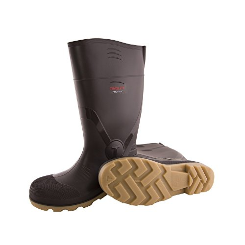 TINGLEY 51154.11 51154 SZ11 Footwear: Boots-Rubber Safety Toe, 11, Brown