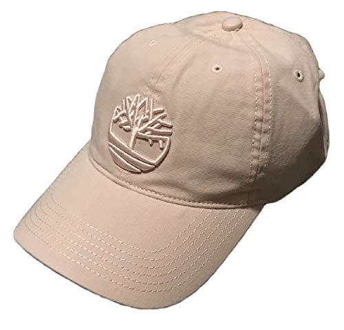 Timberland Men's Cotton Canvas Baseball Cap (One Size, Pink (Leaf Logo))