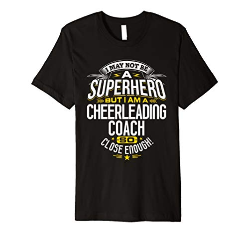 Cheerleading Coach T Shirt Geschenkidee Superheld Cheer Shirt