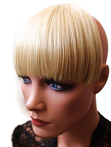 PRETTYSHOP Pony Clip In Extensions Stirnfransen Haarteil Haarverlängerung Blond Mix HF2