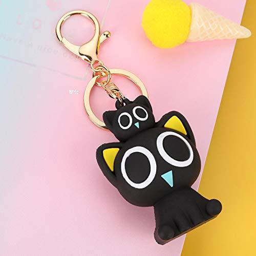 xinyawl Keychain Cartoon Figure Key Chains Silicone Plastic Keychain Car Charms Key Ring Cute Bag Pendant Keyring Kids Party Gift 10cm C