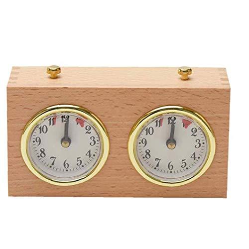 shentaotao Ajedrez Ajedrez Temporizador analógico Reloj de Juego de Madera Temporizador mecánico Conde Arriba Abajo de Competencia