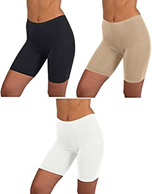 Sexy Basics Womens 3 Pack Active Dance Running Yoga Bike - Boy Short Boxer Briefs (4XL, 3 PK -Black/Hazelnut/White)