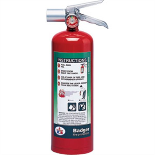 Badger Extra 5 lb Halotron I Extinguisher w/ Wall Hook 24567 Fire Safety