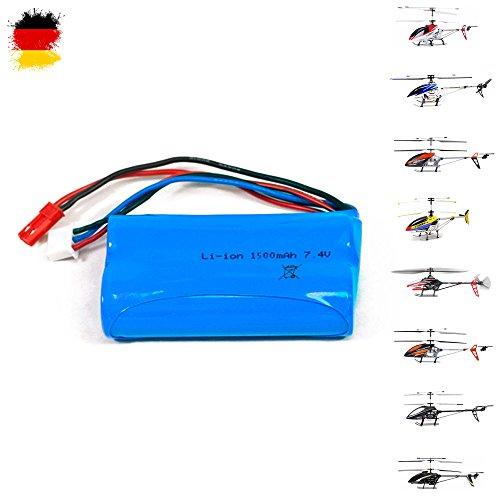 Modèles de batterie 1500mAh, 7.4V pour RC hélicoptère 9053, 9050, 9101, 9104, 9115, 9118, Lt-713, F45, F645, T55, batterie de rechange dans la version 2711, Lt pour hélicoptère à distance