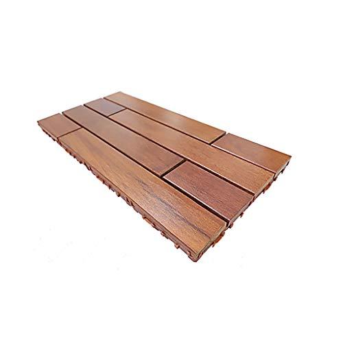 Anticorrosive wood floor Outdoor balcony teak diy mosaic floor Monolithic 60 30cm Used for outdoor decoration terrace renovation and decoration, etc.