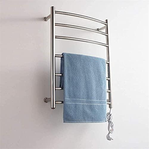 JHGF Calentador de toallas eléctrico, calentador de toallas, toallero eléctrico de acero...