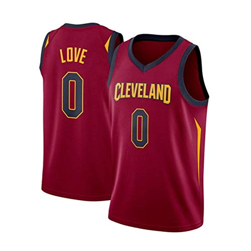 FOKN Jersey De Baloncesto for Hombre Camiseta Kevin Love # 0 Cleveland Cavaliers Sudadera Jersey Fan Camiseta Sin Mangas Transpirable Fitness (Color : Red, Size : M/36)