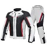 LITI Moto impermeable traje textil 2 piezas traje motocicleta chaqueta+pantalón CE armadura para hombres motocicleta Cordura traje