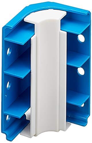 Preisvergleich Produktbild Habengut Innenecke für Sockelleiste aus PVC,  Farbe: Blau Inhalt: 1 Stück - zur Eckumfahrung in Räumen