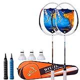 Rebily Anfänger Badmintonschläger Einzel-und Doppel-Schläger Authentisches Männer und Frauen Offensive Durable Kinder Junior High School Student Anzug (Color : B)