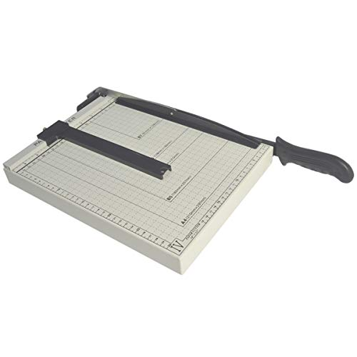 A4 Staalbasis Papiersnijder, Verlengde Dubbele Parel Rolsnijmachine Voor Drukpapier, Fotopapier, Karton of Dun Gecoat Papier, PVC Plaat