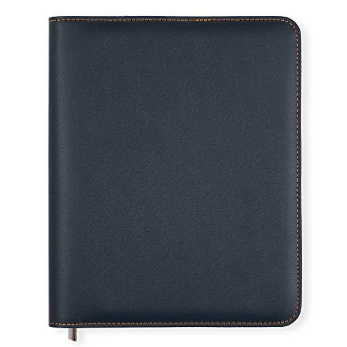 Funda Agenda A5 Essentials de Boxclever Press de cuero sintético con cierre de cremallera. Funda agenda 2020 2021 para agendas, cuadernos y planner 2020 2021. (Azul petróleo) (Azul Oxford)