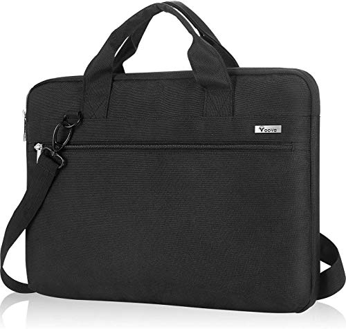 Voova 360° Protective Laptop Bag Case 17 17.3 Inch with Shoulder Starp & Handle, Waterproof Computer Sleeve Cover Compatible with MacBook/Asus/Acer/Hp -Black