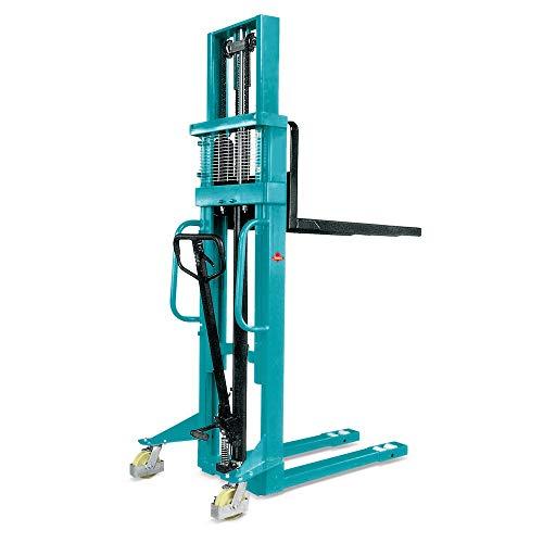 Ameise Hochhubwagen Hydraulik-Stapler PSM 1.0 | Handstapler mit Zweifach-Teleskop-Mast | Tragkraft 1.000 kg | Hubhöhe 3.000 mm | Deichselstapler mit Hydraulikpumpe